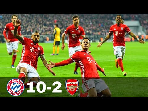 Bayern Munich vs Arsenal 10-2 - Goals & Highlights w\ English Commentary 1080p HD