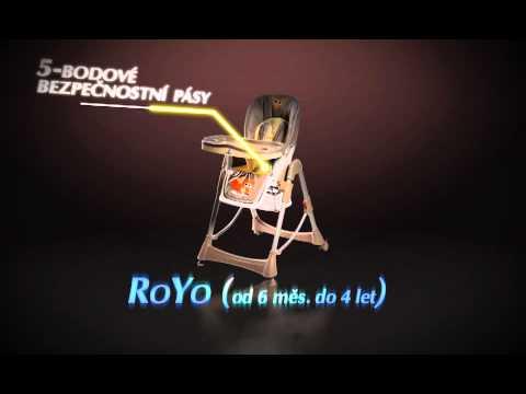 Стульчик для кормления Caretero Royo - brown