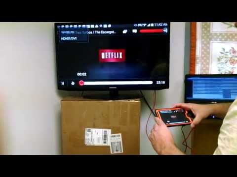 MHL Micro USB to HDMI Mobile Converter Adapter Video Demo - First Look
