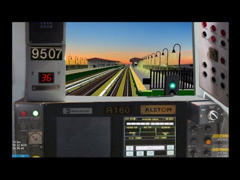 OpenBVE HD: New York City Subway Alstom R160A N Train to Coney Island-Stillwell Avenue via West End