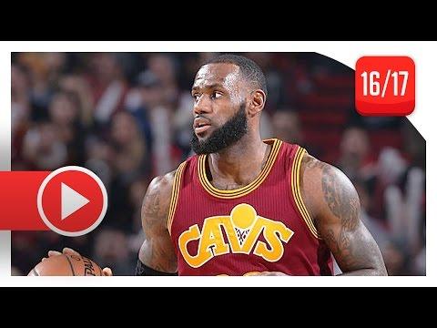 LeBron James Full Highlights vs Trail Blazers (2017.01.11) - 20 Pts, 11 Reb