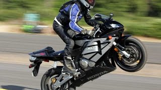 9. Honda Cbr 600 -  Wheelie оn track for the very best turnover (flow)