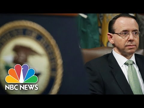 Deputy Attorney General Rod Rosenstein Makes Law Announcement | NBC News