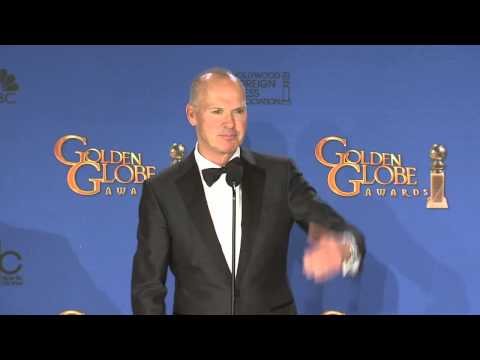 Michael Keaton: Golden Globe Awards Back Stage Interview (2015)