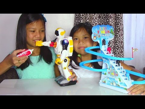 Speed Tech Radio Control Space Soldier Robot and Jolly Penguin Frisk Paradise – Kids' Toys