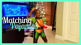 Matching Pajamas | BLACK FAMILY VLOGS