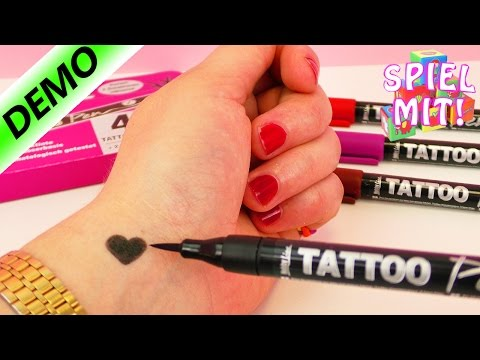 Nina tätowiert sich selbst | 4 Tattoostifte im Test | Tattoo Demo
