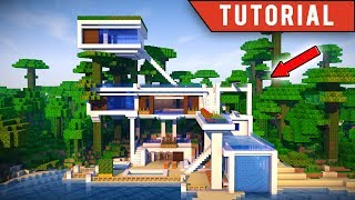 Minecraft: How To Build a JUNGLE Village / Modern TreeHouse Tutorial [ How to make ] 2017