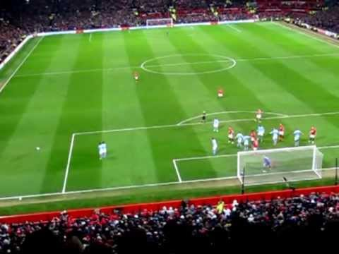 Man UTD Goal Vs Man City And Crowd Reaction - EPL Home 08/04/13