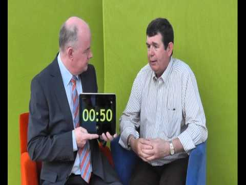 Gerard Harkin, Carlton Enterprises, takes the 60 second challenge with Omagh Enterprise Company