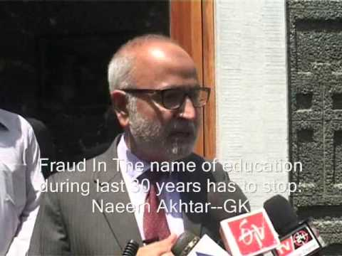 Naeem Akhtar Vows To Fight Fraud In Education Department