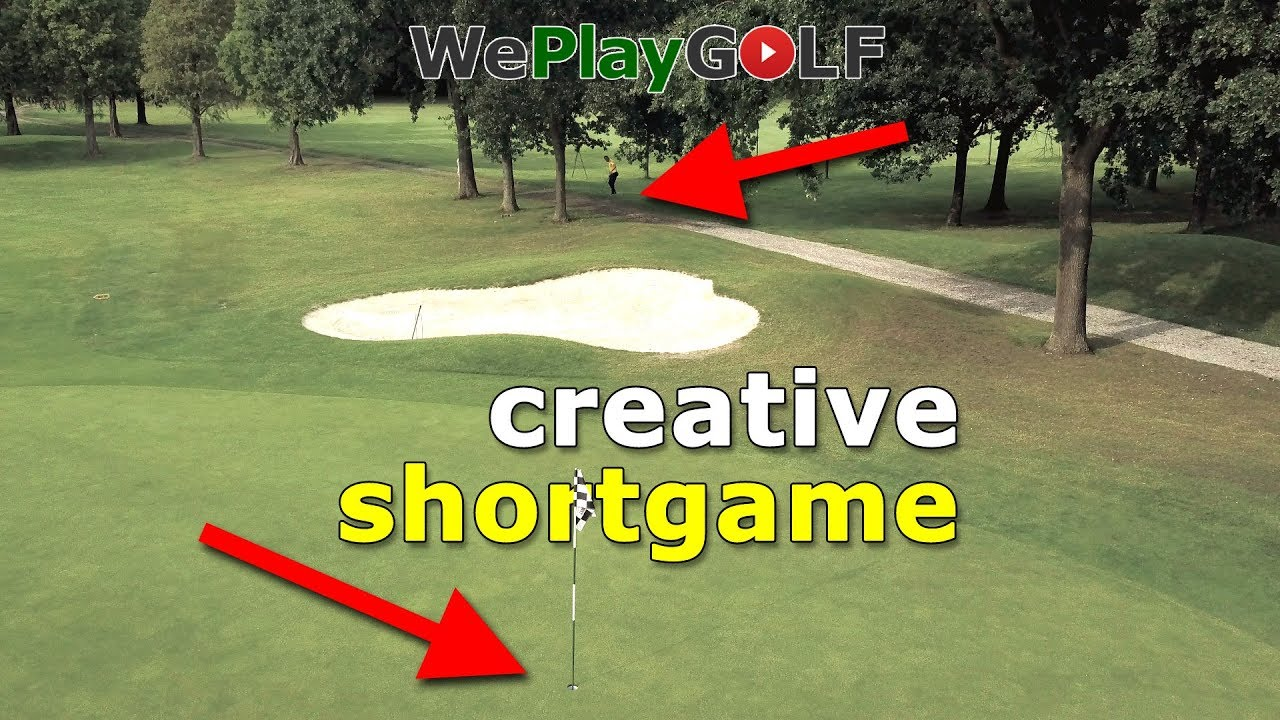 Be creative in your shortgame - Chip thru the bunker with a 6 iron