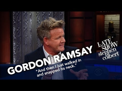 Gordon Ramsay Critiques Stephen Colbert s PB J