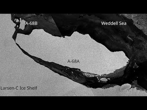 Video - Παγόβουνο στο μέγεθος της Κύπρου αποκολλήθηκε από την Ανταρκτική
