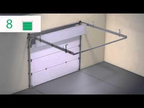 Монтаж ворот. Гаражные ворота Alutech Standard видео инструкция. Key SIMS. Киев