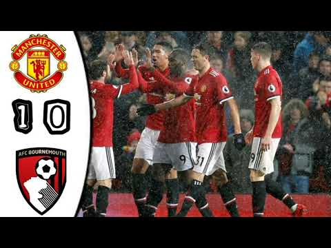 Manchester United vs Bournemouth 1-0 All Goals 13-12-2017 Live score match in pictures
