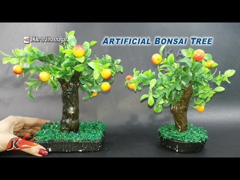 DIY Artificial Bonsai Tree Tutorial | How to make | JK Arts 923