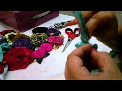 Flor de Tecido Dobrado
