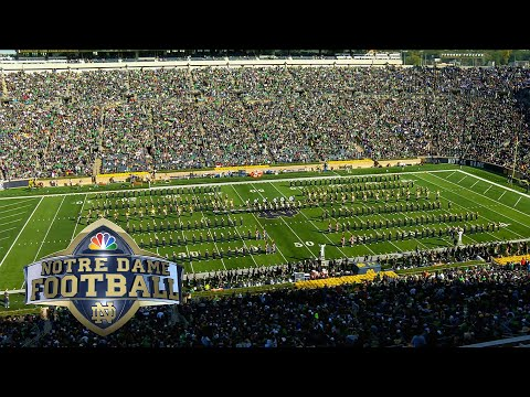 Video: Notre Dame marching band performs at halftime against Pittsburgh I NBC Sports