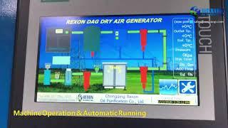 PLC Automatic Running Transformer Dry Air Generator for Transformer Maintenance youtube video