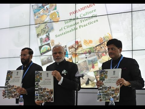 PM Modi at the inauguration of India Pavilion at COP21 Summit'15 in Paris, France