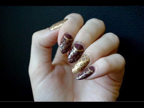 louis vuitton nail art!!