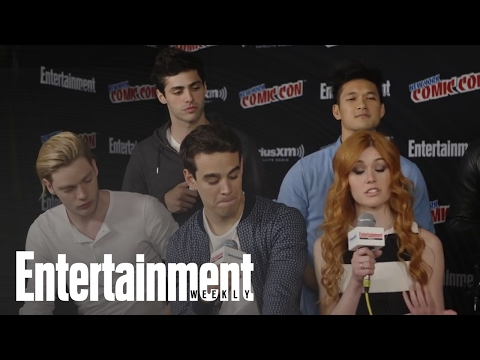 Shadowhunters' Cast Talks Series, Jace & Clary's Relationship & The Book   Entertainment Weekly