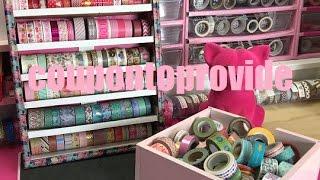 Dollar Tree DIY | Desk top or Wall Washi Tape Organizer | Craft Storage DIY | April 2017