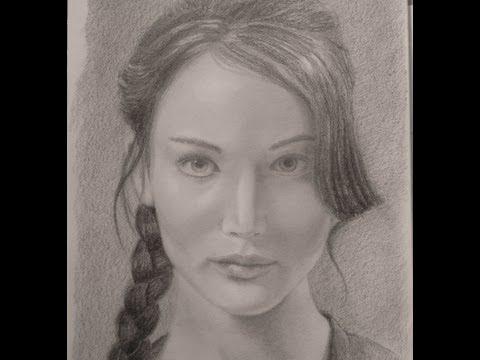 Retrato de Jennifer Lawrence (juegos del hambre) - Cómo hacer un retrato
