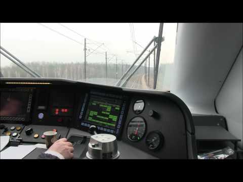 Pendolino ED250-012 z Warszawy do Krakowa - dwa mocne Rp1 [cabview]