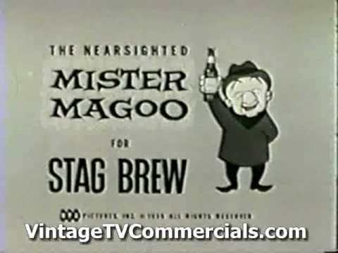2 Classic 1950's Mr Magoo Animated Stag Beer Commercials