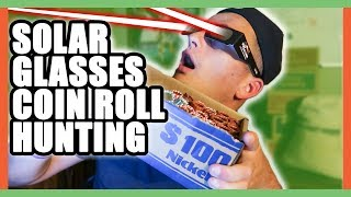 With the solar eclipse coming in August 2017 we start the coin roll hunting live stream with solar glasses. We are nickel roll...