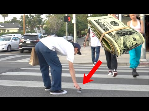 Dropping $10,000 Cash Prank Gone Wrong .