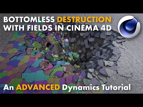 Bottomless Destruction with Fields in Cinema 4D