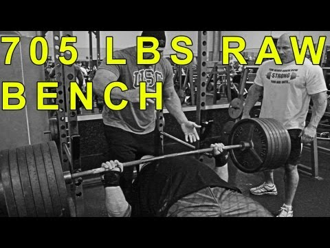 bench - Eric Spoto hits a JAW DROPPING 705 LBS RAW Bench! Stan then crushes 545 as he bangs out 2 reps just barely missing the third. Order Stan's DVD: http://Provin...