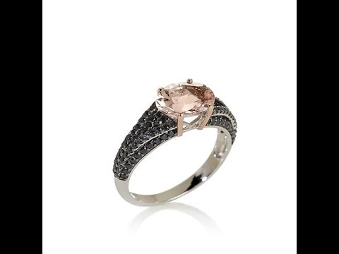 Rarities 2.25ct Peach Morganite and Spinel Ring
