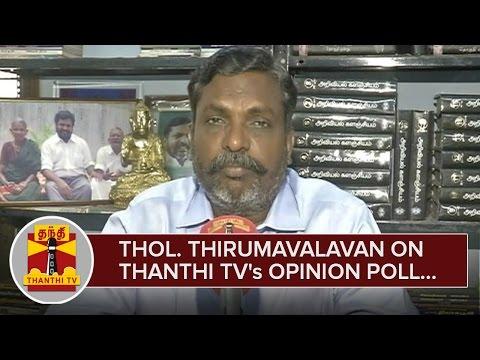 Thol-Thirumavalavan-on-Thanthi-TVs-Makkal-Yaar-Pakkam-Opinion-Poll--Thanthi-TV