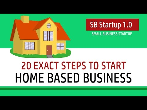 Are you looking to start a home-based business? Then, watch these 20 Exact steps to start a home-based small business.