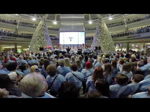 "5,000 people gather at Mall of America to sing ""Clouds"" in honor Zach Sobiech - the 17-year-old who, before passing away in May 2013 from osteosarcoma, wrote the Billboard Hot 100-charting single."