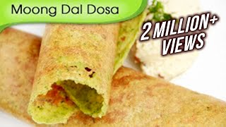 Moong Dal Dosa - South Indian Breakfast Recipe By Ruchi Bharani - Vegetarian [HD]