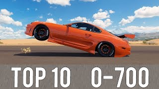 Video Forza Horizon 3 - TOP 10 FASTEST 0-700 CARS! CRAZY ACCELERATIONS! MP3, 3GP, MP4, WEBM, AVI, FLV September 2018