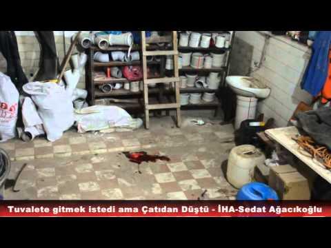 Tosya'da Tuvalete giden adam çatıdan düştü