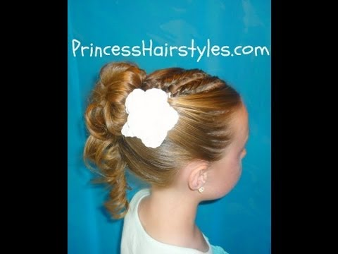 Prom Hairstyles, Formal Updo With An Upside-Down French Braid