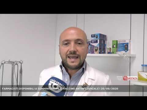 FARMACISTI DISPONIBILI A SOMMINISTRARE IL VACCINO ANTINFLUENZALE | 20/09/2020