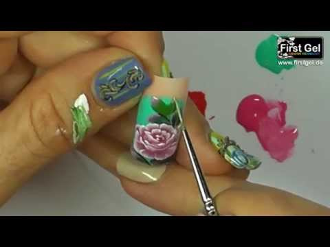 Zhostovo-Russian Decorative Painting Gel Kurs mit First Gel (Tutorial 2)