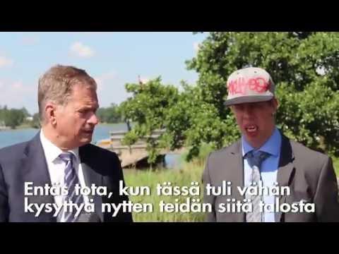 Kalle Havumäki ja Sauli Niinistö Mäntyniemessä 2016