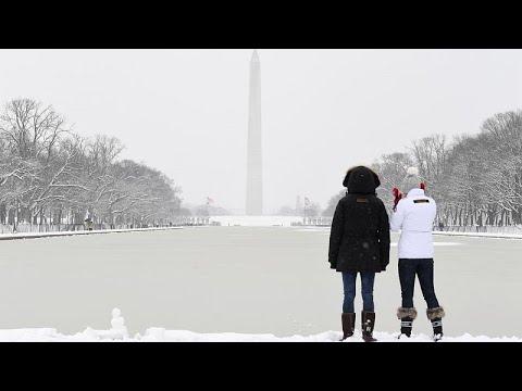 Παιχνίδια με το χιόνι στην Ουάσινγκτον