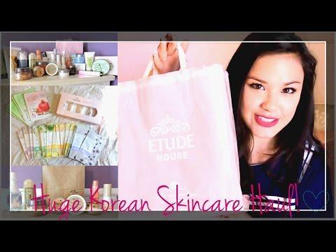 Pt. 1 HUGE Korean Skincare Haul ♥ Etude House, Skin Food, Innisfree, Holika Holika and more!