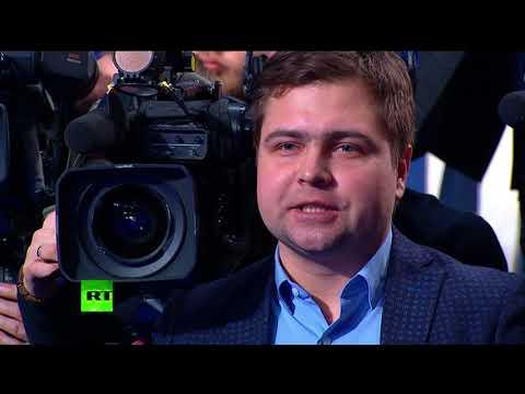 Выступление Владимира Путина в предвыборном штабе - DomaVideo.Ru