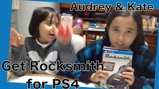 Audrey & Kate got a PS4 version of Rocksmith2014 from UBISOFT SF. Thank you so much!!!!!!!!! We can't wait to play on the PS4!